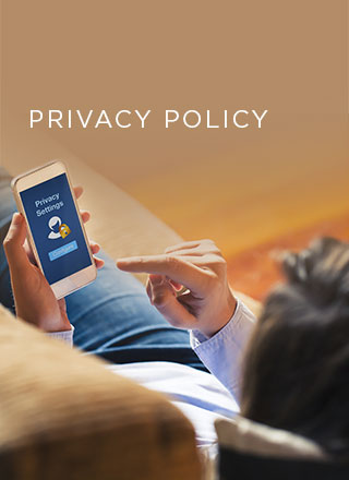 This is an image of a man holding a mobile phone with privacy features.