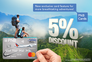 Exclusive 5% discount on Philippine Airlines International Flights using PNB-PAL Mabuhay Miles Mastercard