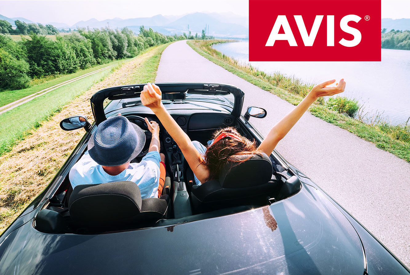 Earn up to 4X Miles with Avis worldwide